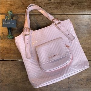 Ted Baker Quilted Vegan Patent Leather Tote